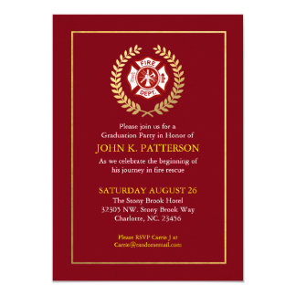 Firefighter Graduation | Retirement Invitation