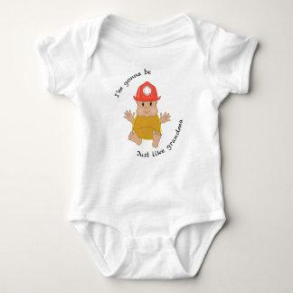 Firefighter grandma baby bodysuit