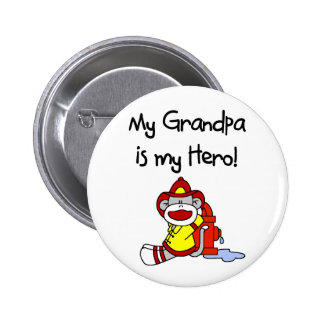 Firefighter Grandpa Hero 2 Inch Round Button