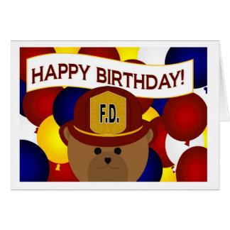 Firefighter - Happy Birthday Firefighter Hero! Greeting Card