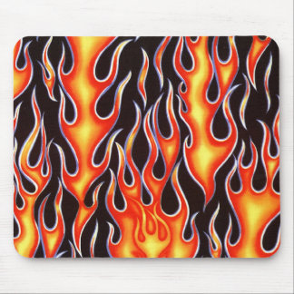 Firefighter Harley Racing Flames Gifts! Mouse Pad