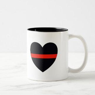Firefighter Heart Two-Tone Coffee Mug
