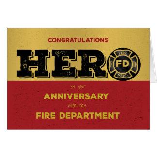 Firefighter Hero Employee Anniversary Card
