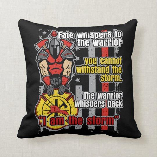 Firefighter I Am the Storm Throw Pillow