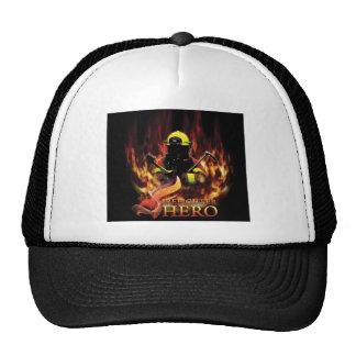 Firefighter in Flame Trucker Hat