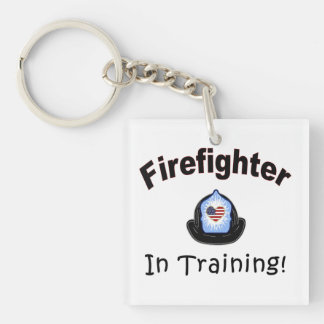 Firefighter In Training Acrylic Keychains