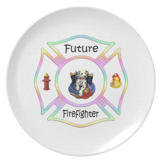 Firefighter Kids Dinner Plates