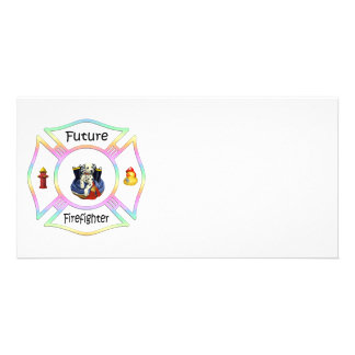 Firefighter Kids Photo Greeting Card