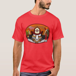 Firefighter Kilroy Red-Hot T-shirt