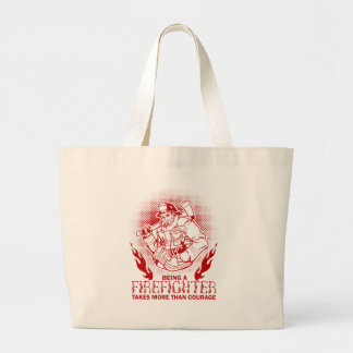 Firefighter Large Tote Bag