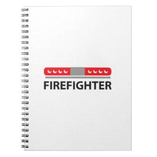 FIREFIGHTER LIGHTS NOTE BOOK