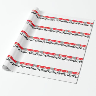FIREFIGHTER LIGHTS GIFT WRAP PAPER