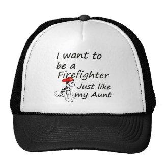 Firefighter like my aunt trucker hat