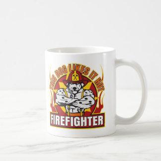 Firefighter Likes it Hot Classic White Coffee Mug