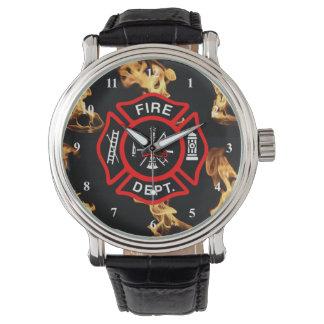 Firefighter Maltese Cross   Fire Dept Badge Wristwatches