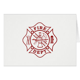 Firefighter Maltese Cross Greeting Card