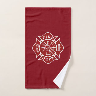 Firefighter Maltese Cross Gym Towel