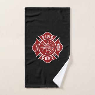 Firefighter Maltese Cross Hand Towel
