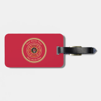 Firefighter Maltese Cross Rope Shield Universal Luggage Tag