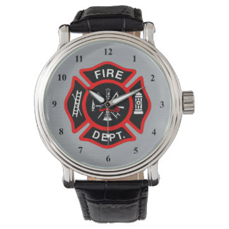 Firefighter Maltese Cross Symbol | Fire Dept Badge Watch