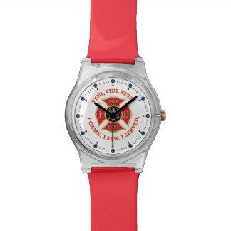 Firefighter Maltese Cross Veteran Wrist Watches
