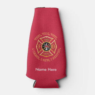 Firefighter Maltese Cross VVV Custom Bottle Cooler