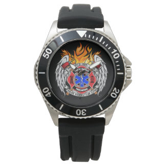 Firefighter/Medic Combination Emblem Watch