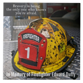 Firefighter memorial tile