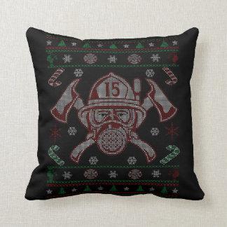 Firefighter - Merry Christmas Throw Pillow