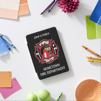 Firefighter Modern Name Template iPad Mini Cover
