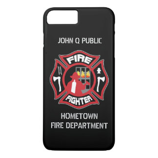 Firefighter Modern Name Template iPhone 7 Plus Case