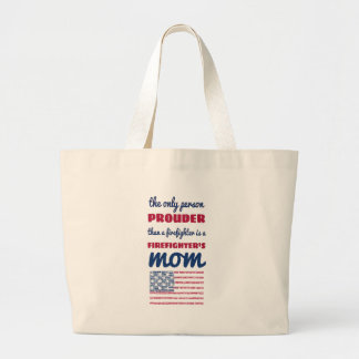 firefighter_mom large tote bag