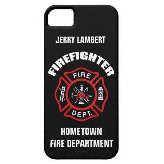 Firefighter Name Template iPhone 5 Cases