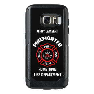 Firefighter Name Template OtterBox Samsung Galaxy S7 Case