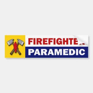 Firefighter Paramedic Bumper Sticker