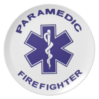 Firefighter Paramedic Plate