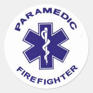 Firefighter Paramedic Round Sticker