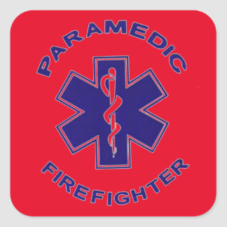 Firefighter Paramedic Square Sticker