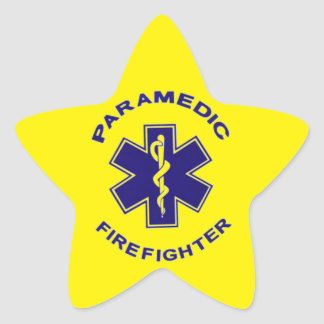 Firefighter Paramedic Star Sticker