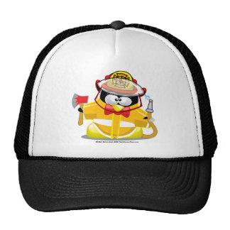 Firefighter Penguin Trucker Hat