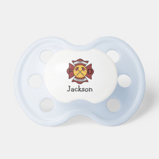 Firefighter Personalized Name Pacifier
