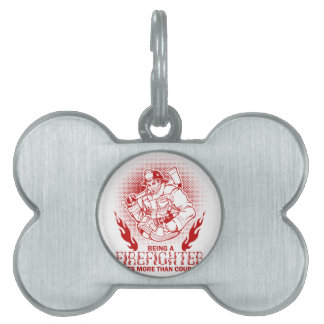 Firefighter Pet Tag