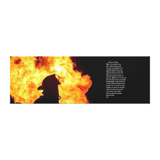 firefighter picture canvas print