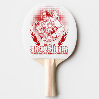 Firefighter Ping Pong Paddle