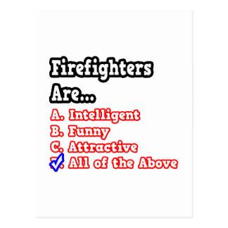 Firefighter Quiz...Joke Postcard