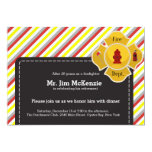 "Firefighter retirement 5"" x 7"" invitation card"