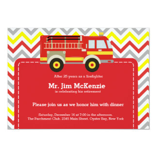 "Firefighter retirement 5"" x 7"" invitation card"