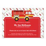 Firefighter retirement 5x7 paper invitation card