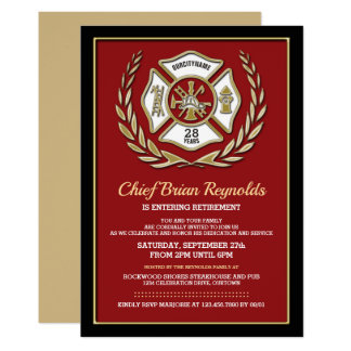 Firefighter Retirement Party Invitation
