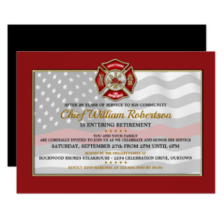 Firefighter Retirement Party Invitations